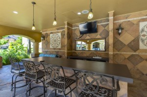 Three Bedroom Apartments for Rent in Northwest Houston, TX -Covered Outdoor Bar with TV